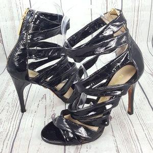 LAMB Patent Strappy Stiletto Heels